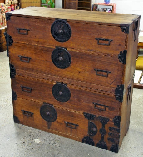 Antique Nihonmatsu Clothing Chest ! - Antique Japanese Clothing Tansu Chest Nihonmatsuisho Dansu