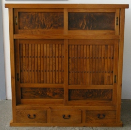 Japanese Antique Kitchen Chests Tansu Mizuya Dansu
